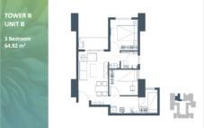 Apartemen Meikarta Tower B Unit B, Blok 53021, Luas 64.17