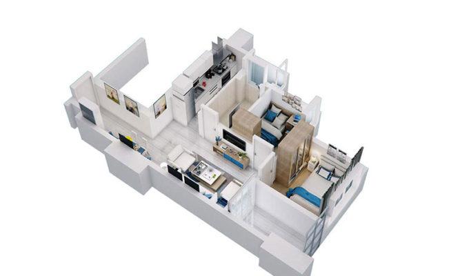 Apartemen Meikarta Tower A, Unit E, Blok 62006, Luas 60.53