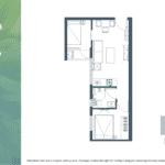 Apartemen Meikarta Tower B Unit F, Blok 62007, Luas 49.76