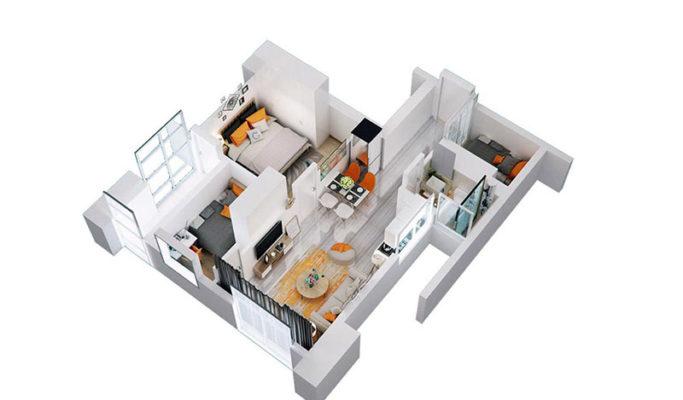 Apartemen Meikarta Tower A Unit H, Blok 50021, Luas 63.81