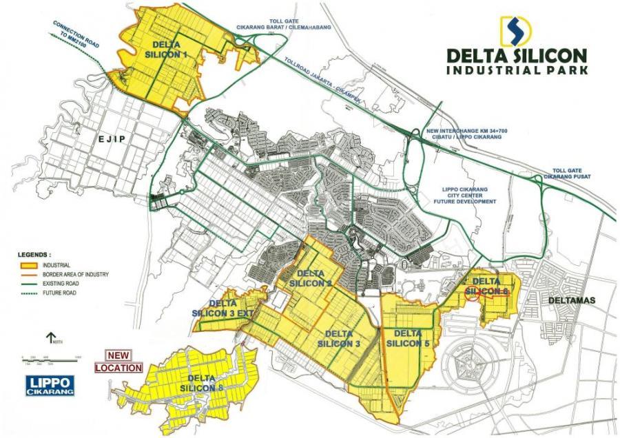 Delta Silicon 2 Lippo Cikarang, Dijual Lahan Kawasan