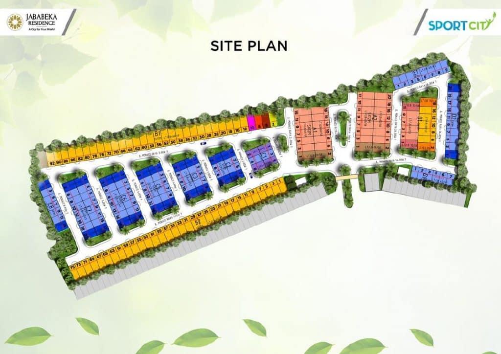 Siteplan Monaco town house jababeka