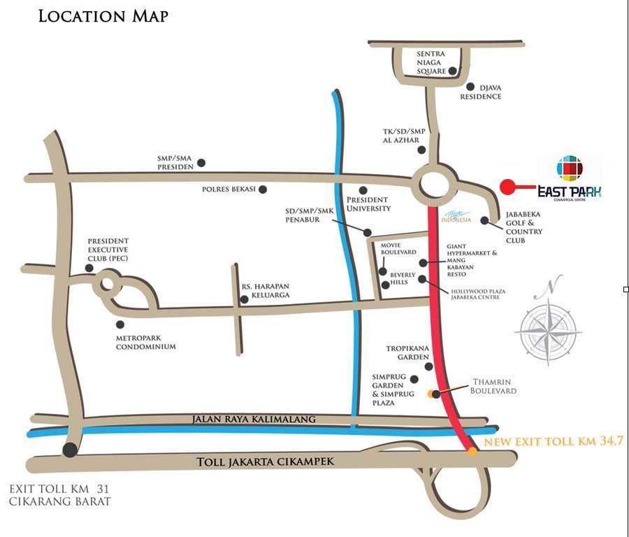 jababeka residence ruko east park masterplan
