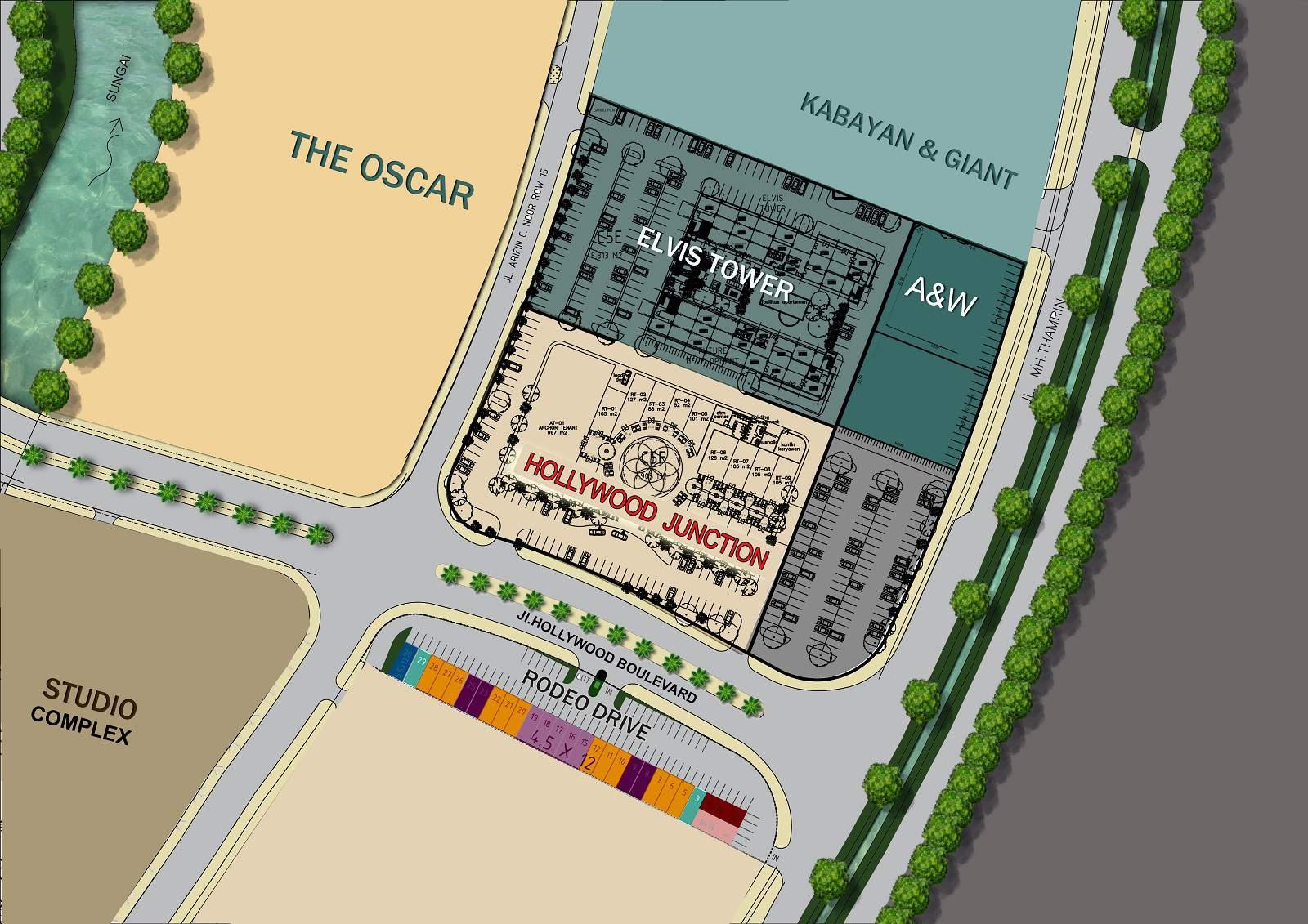 jababeka residence ruko rodeo drive siteplan