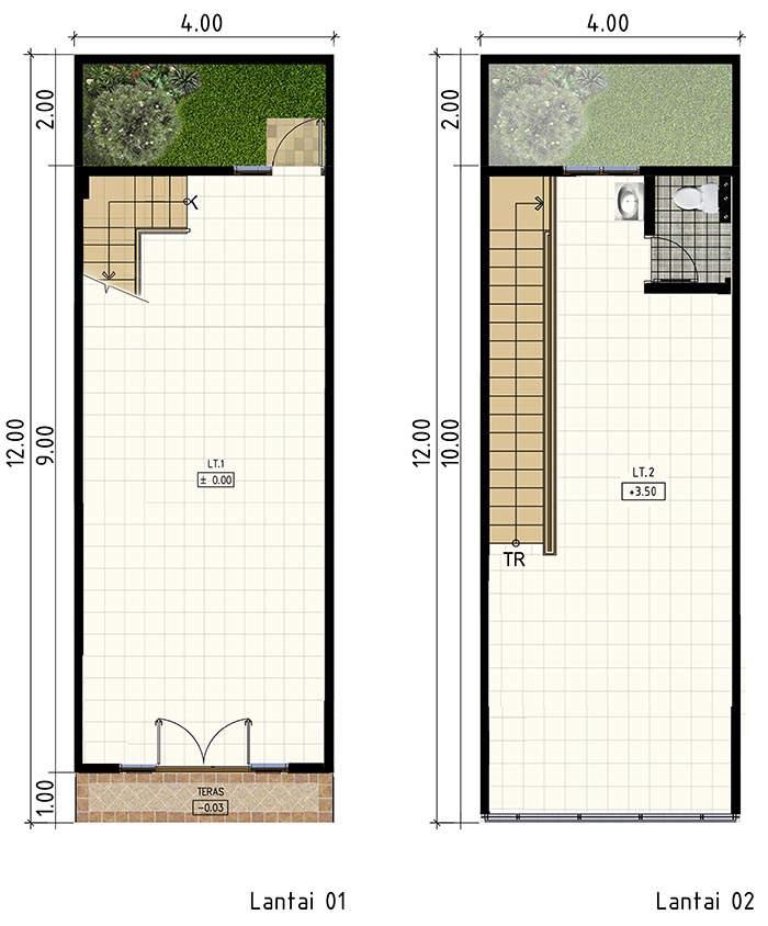 type layout Ruko EAST PARK jababeka