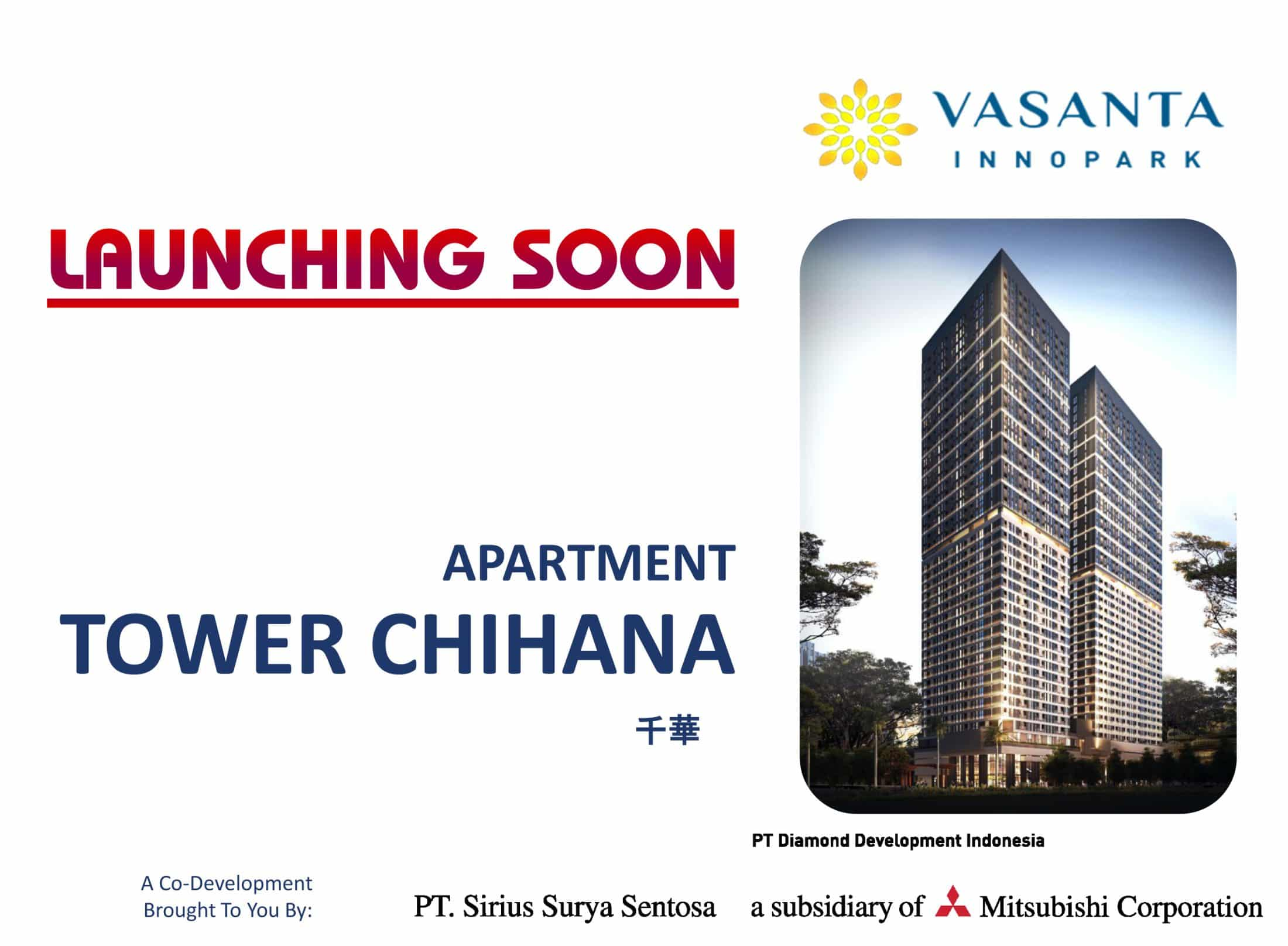Launching Apartemen Vasanta Innopark Tower Chihana Type Studio