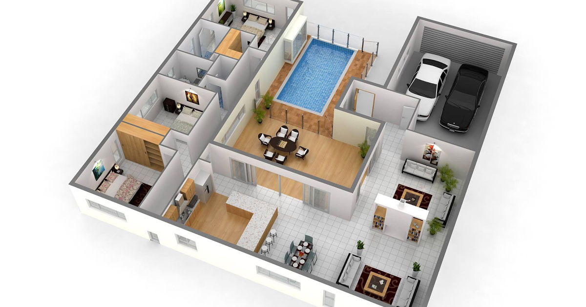 Contoh Denah Rumah 70 1 Lantai Terbaru yang Wajib Dicontek
